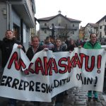 Nekane Askatu - Freiheit für Nekane eine der fast täglichen Demonstrationen in ihrem Heimatdorf Asteasu